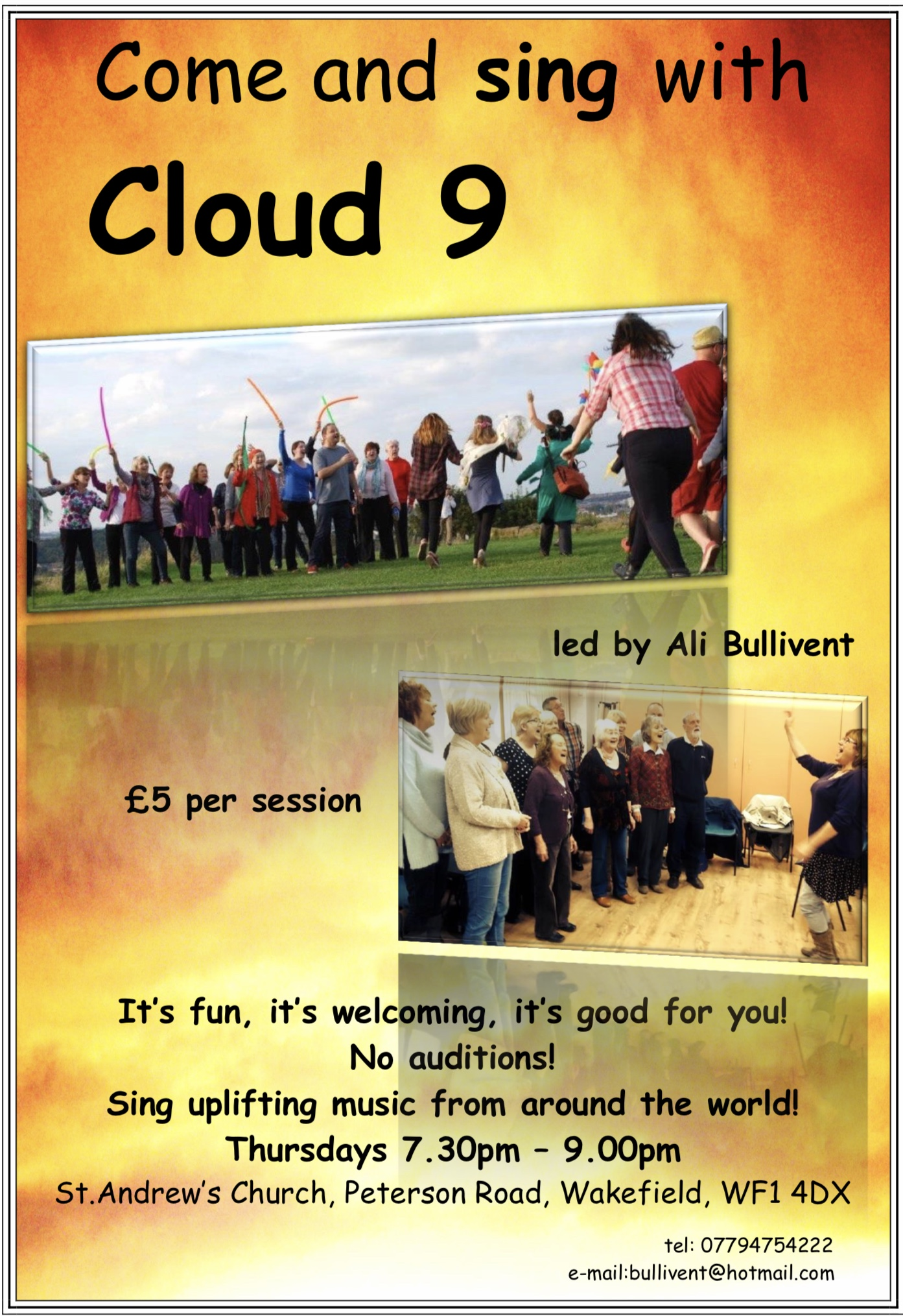 Cloud 9 Poster - alibullivent.co.uk