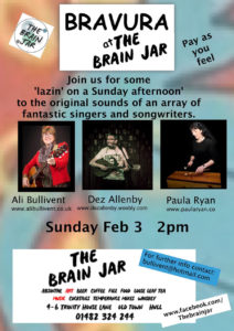 Bravura at The Brain Jar - alibullivent.co.uk