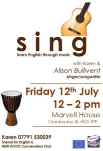 Sing poster - alibullivent.co.uk