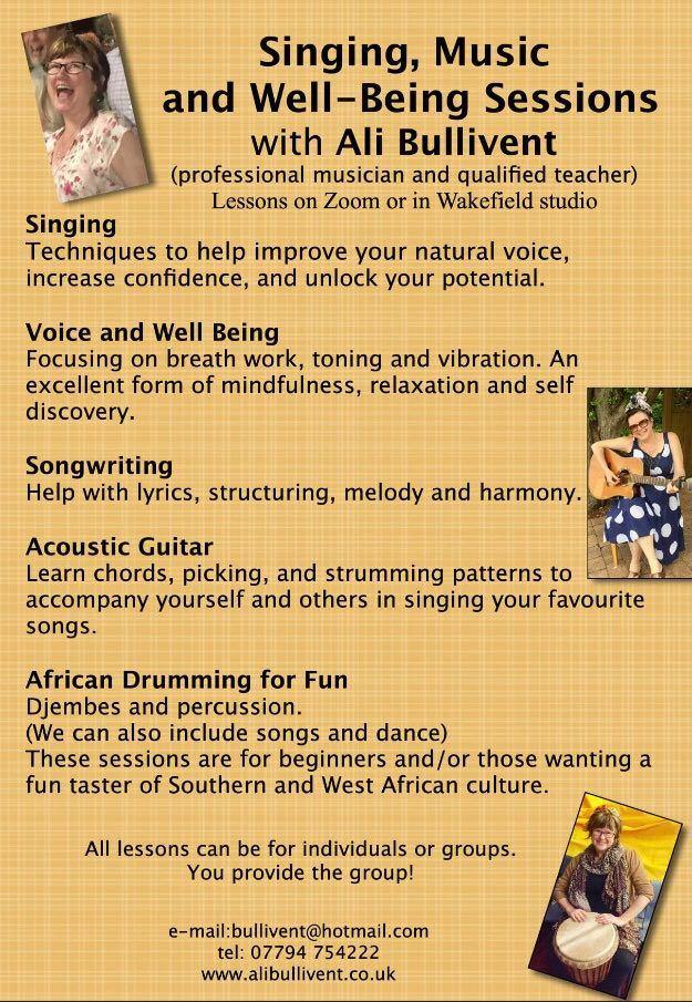 Singing Music Wellbeing - alibullivent.co.uk