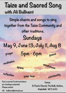 Taize and Sacred Song - alibullivent.co.uk