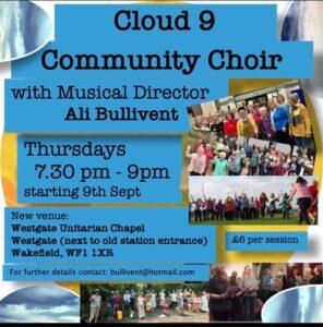 Cloud 9 Community Choir - www.alibullivent.co.uk