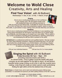Arts and Healing - alibullivent.co.uk