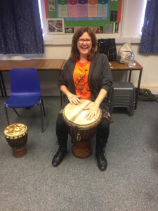 Drumming with school in York - alibullivent.co.uk